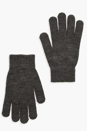 Grey marl grey Basic Gloves