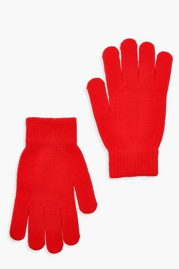 Red Basic Gloves