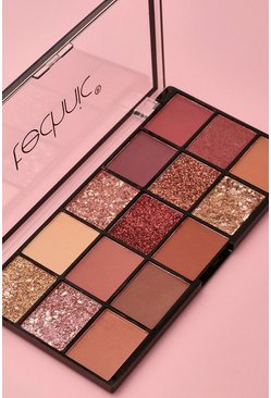 Палетка теней Technic 15 Eyeshadow Palette - Inivite Only, Nude Телесный