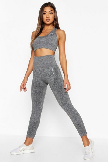 Dark grey Fit Supportive Waistband Seamless Leggings