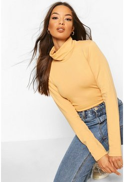 Nude Long Sleeve Polo Neck Body Top