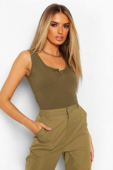 Khaki Notch Neck Body