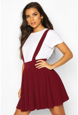 Berry Basic Jersey Pinafore Skirt