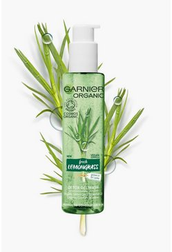 Clear Garnier Organic Lemongrass Wash 150ml Vegan