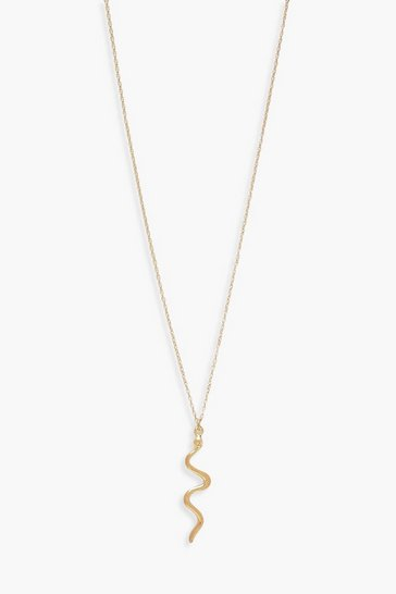 Gold Snake Delicate Necklace