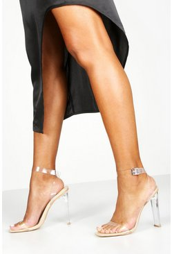 Nude Clear Flat Heel 2 Parts