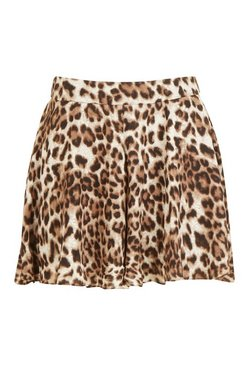Brown Leopard Flippy Shorts