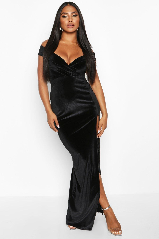 Maxi Dresses Velvet Bardot Maxi Dress