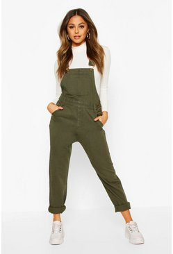Khaki Denim Dungaree