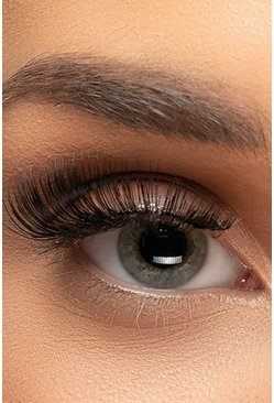 Black svart Glamourise False Eyelashes #83