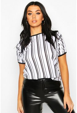 White Stripe Ringer T-Shirt