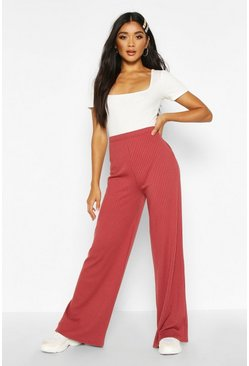 Soft Rib Wide Leg Trouser