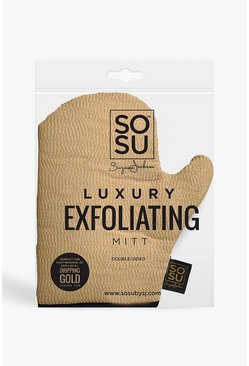 Gold SOSU Dripping Exfoliating Mitt