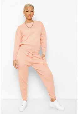 Blush pink Knitted Tracksuit