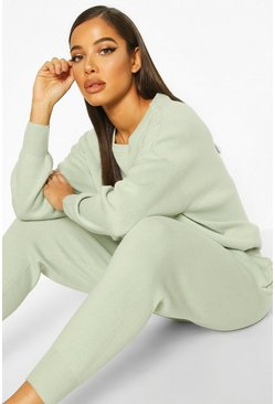 Sage green Nude Knitted Sweater & Jogger Two-Piece