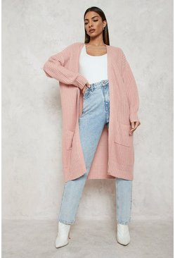Blush pink Fisherman Edge To Edge Boyfriend Cardigan