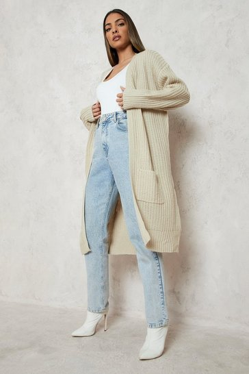 Ecru white Fisherman Edge To Edge Boyfriend Cardigan
