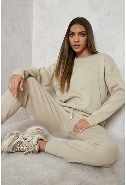Ecru white Knitted Jumper & Jogger Co-ord