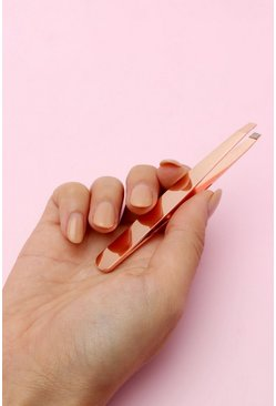 Rose gold Boohoo Slanted Tweezers