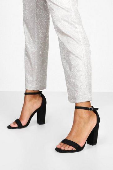Black Basic Barely There Heels