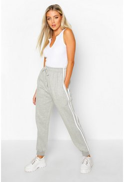 Grey marl grey Regular Jogger With Side Stripes