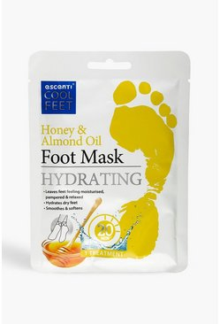 White Escenti Cool Feet Honey & Almond Foot Mask