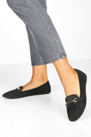 Black Bar Slipper Ballet Pumps