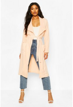 Nude Utility Pocket Belted Duster