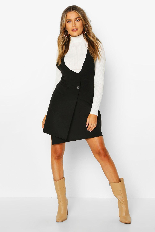 Pinafore Dresses Pocket Front Pinafore Dress
