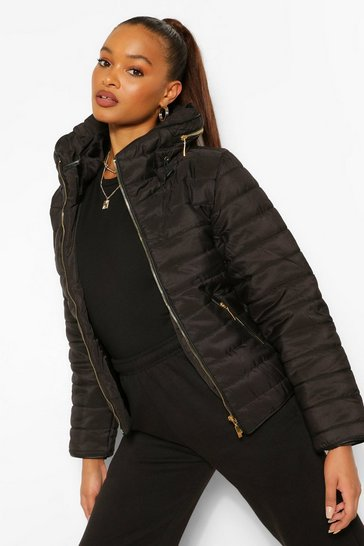 Black Fitted Quilted Jacket