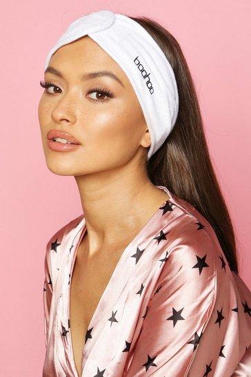White Boohoo Spa Facial Headband