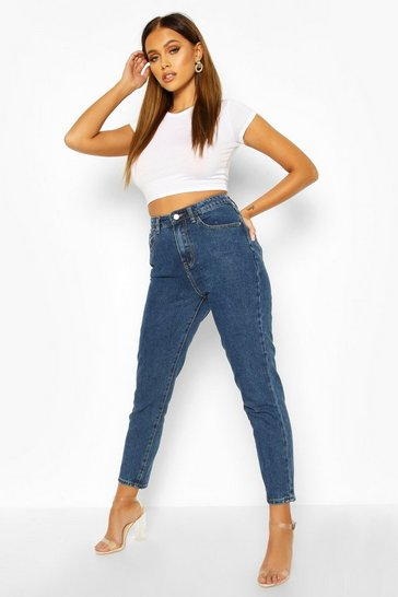 Mid blue blue High Rise Mom Jeans