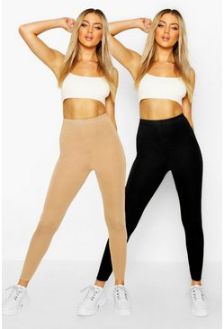 Camel beige 2 Pack Basic Jersey Leggings