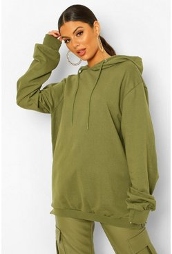 Olive green Extreme Oversized Hoodie