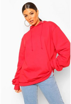 Sweat à capuche oversize extrême, Red