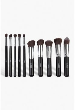 Black LaRoc 10 Piece Luxury Kabuki Brush Set