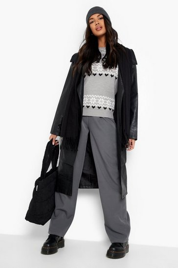 Grey Christmas Fairisle Knitted Jumper