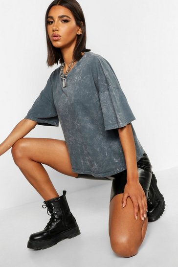 Charcoal Oversized Acid Wash T-Shirt