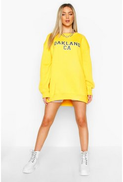Mosterd yellow Oversized Oakland-sweater
