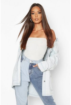 Light blue blue Bleach Pocket Denim Jacket
