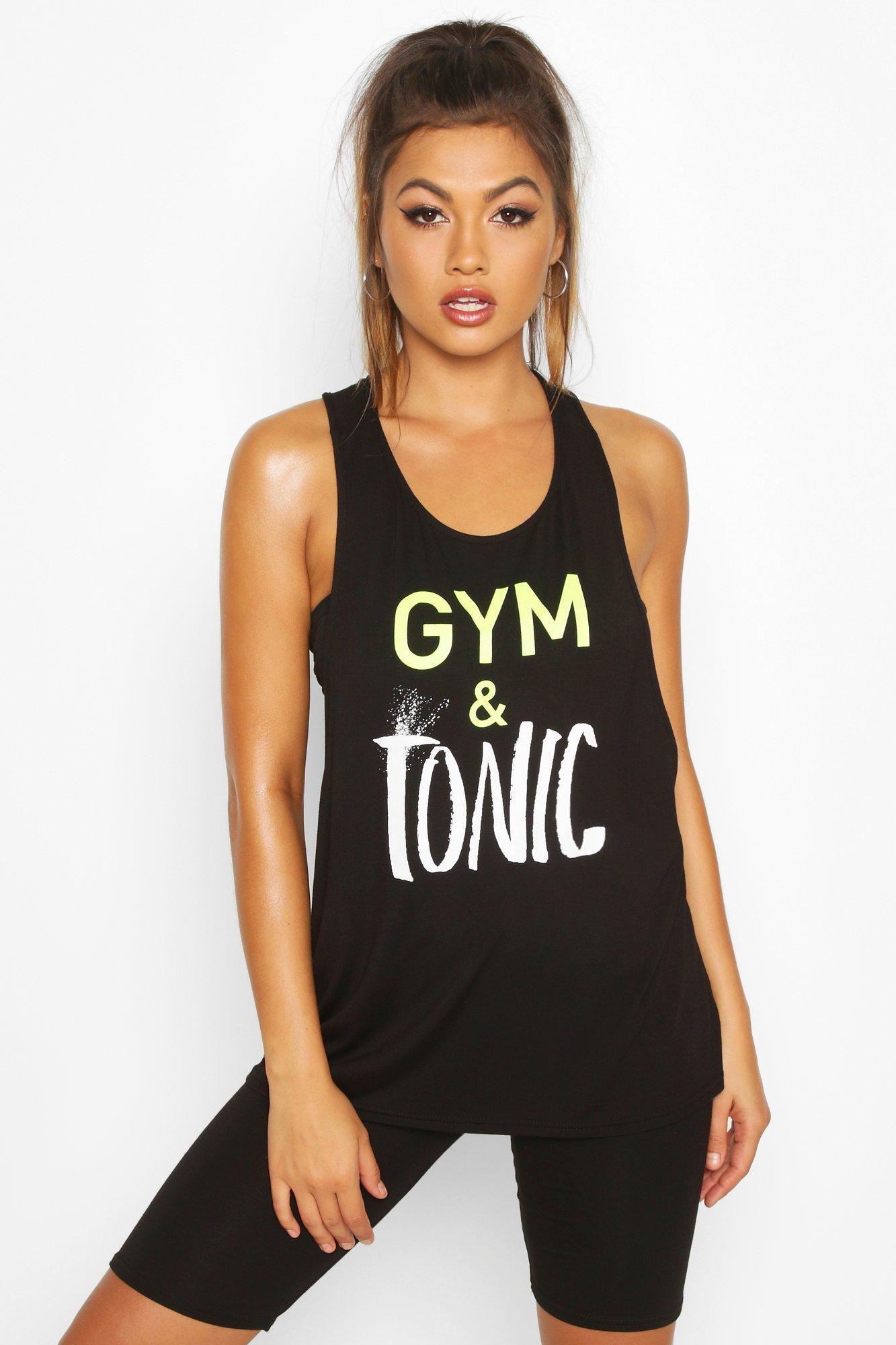 Gym Wear Fit Gym & Tonic Slogan Vest