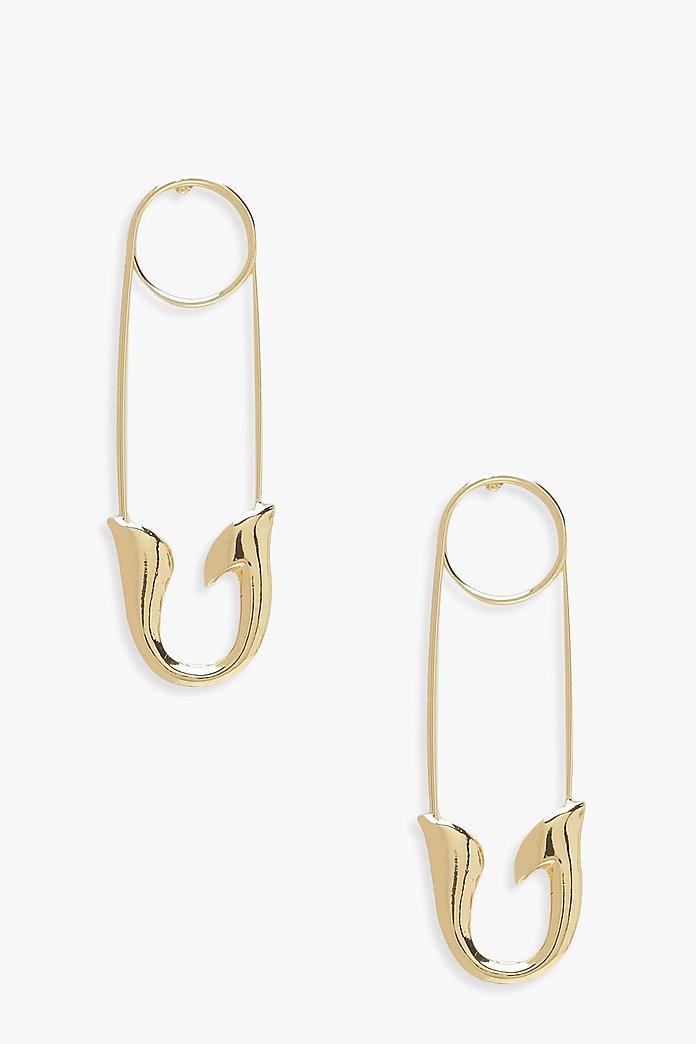 Safety Pin Earrings Boohoo Canada