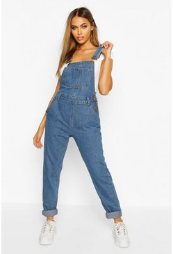 Mid blue blue Denim Dungaree
