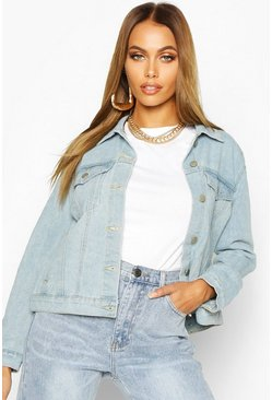 Light blue blue Western Denim Jacket