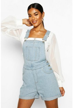 Light blue blue Denim Dungaree Shorts