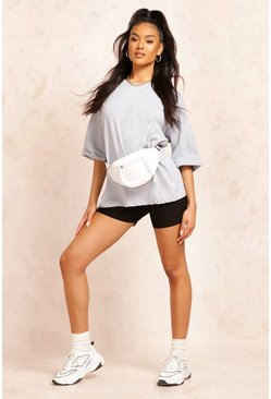Grey marl grey Basic Turn Cuff Boxy Sweat