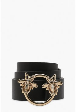 Black Bee Ring Boyfriend Belt