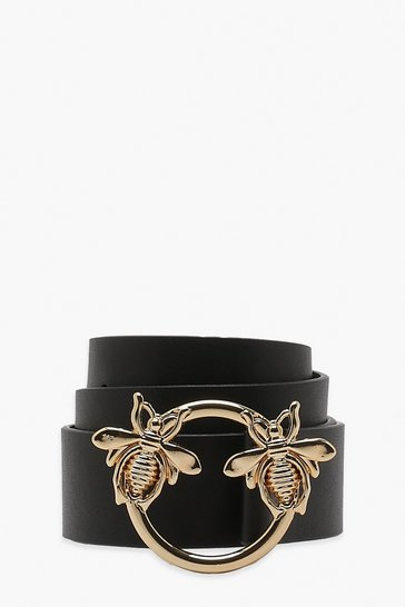 Black Bee Ring Boyfriend Belt