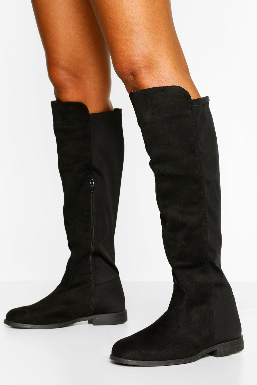 Wide Fit Wider Calf Knee High Boots