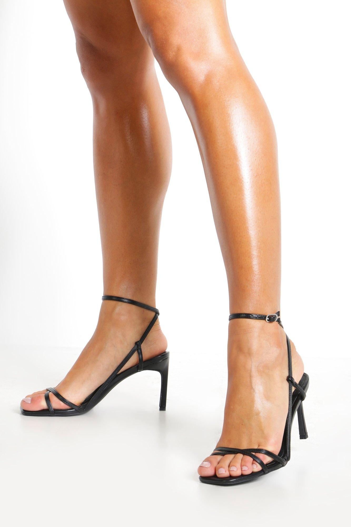 Black Strappy Sandals Heels